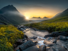 Dreaming (Ole Henrik Skjelstad) Tags: norge norway mountain river sunrise sun light rocks summer