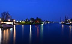 Greifswald - Blue Hour Harbour (cnmark) Tags: deutschland germany mecklenburgvorpommern greifswald hafen museumshafen harbour port museum sailing ship boat vessel segelschiff river fluss ryck blue hour blaue stunde night nacht nachtaufnahme noche nuit notte noite ©allrightsreserved