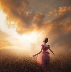 Head Toward the Light ({jessica drossin}) Tags: jessicadrossin portrait people girl woman teen child angel dress clouds sky field dream light