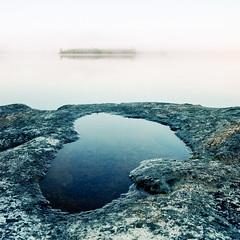 Micro Lake (Aaron Bieleck) Tags: hasselblad500cm 120film analog 6x6 square film filmisnotdead hasselblad mediumformat wlvf 60mmct kodakportra160 lake mn minnesota boundarywaters canoetrip island outdoors landscape lakescape