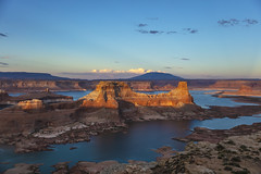 Last light (CraDorPhoto) Tags: canon5dsr landscape water lake lakepowell alstrompoint utah usa nature outside outdoors butte mountains valley sky blue