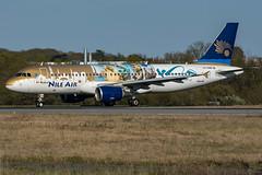 Nile Air / A320 / SU-BQM / LFRS 21 (_Wouter Cooremans) Tags: green nte nantes lfrs spotting spotter avgeek avaition airplanespotting nile air a320 subqm 21 nileair
