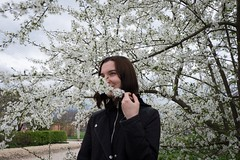 Spring is coming! (lolita.khlynina) Tags: nature white green trees tree sky weather girls girl woman people flowers flower spring