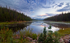 Lost Lake (valentina425) Tags: lake fog summer colorado forest wilderness nature montains water wood tree sky mountain grass landscape