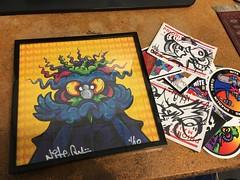 Nite Owl on blotter paper (RobotSkirts) Tags: niteowl streetart lsd blotter blotterpaper art sticker slap graffiti