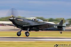 "Supermarine Spitfire Mk XVI - ""Black Spitfire"" - Battle of Britain Memorial Flight (Aimeric D. Photographies) Tags: avion plane planes spotter airshow riat fairford"