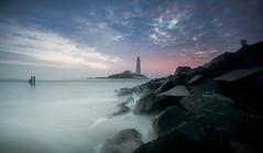 Gotta love this Lighthouse (ianbrodie1) Tags: stmarys lighthouse longexposure coast coastline sea seascape leefilters nikon rocks sunrise sky posts water ocean northeast tyneside