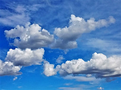 The Poetry of  Clouds (moonjazz) Tags: sky blue clouds white color pure soft high weather shapes puffy cumulus desert looking photography simple up above atmosphere poetry meteorology earth