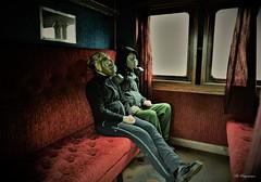 The Passengers ☢️ (Bo Ragnarsson) Tags: train passenger gasmask fallout stalker zone radioactive biohazard postapocalyptic vintage boragnarssonphotography