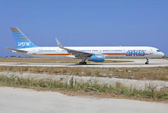 4X-BAU (QC PHOTOGRAPHY) Tags: rhodes diagoras greece july 30th 2018 arkia israeli airlines b757300wl 4xbau