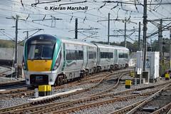 22027 departs Connolly, 10/5/19 (hurricanemk1c) Tags: railways railway train trains irish rail irishrail iarnród éireann iarnródéireann 2019 22000 rotem icr rok 4pce 22027 1030grandcanaldockhazelhatchandcelbridge dublin connolly