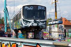"""Schon seit einiger Zeit haben einige U-Bahnwagen beim """"Bahnwärter Thiel"""" eine neue Heimat gefunden, darunter auch Syntegra-Prototyp 498 (Frederik Buchleitner) Tags: 3010 498 bwagen bahnwärterthiel beiwagen munich münchen pwagen strasenbahn streetcar syntegra tram trambahn ubahn viehhof"""