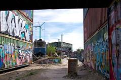 """Neue Heimat beim """"Bahnwärter Thiel"""", p-Beiwagen 3010 ist zurück in München und bereichert das bekannte Kulturzentrum im Schlachthofviertel (Frederik Buchleitner) Tags: 3010 bahnwärterthiel beiwagen munich münchen pwagen strasenbahn streetcar tram trambahn viehhof"""