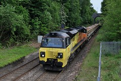 70-802-6M60-Sutton-Park-Station-Sutton-Coldfield-20-5-2019 (D1021) Tags: class70 70802 6m60 colas ballast engineers departmental suttonpark suttonparkstation suttoncoldfield westmidlands d300 nikond300 pole poleshot