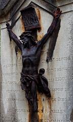 Jesus. (S.K.1963) Tags: jesus christ decay rust gravestone montmartre paris graveyard olympus 1240mm 28 pen f
