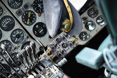 Brooklands (Sean Sweeney, UK) Tags: brooklands museum surrey uk weybridge nikon d810 24120 dslr england cockpit flightdeck flight deck pilot hat controls dials