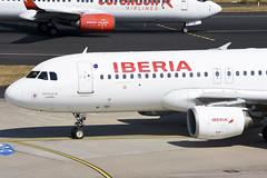 Iberia A320-214 EC-IEF (Gideon van Dijk) Tags: dus eddl düsseldorf düsseldorfinternationalairport duitsland aviation aircraft airport airplane airlines vliegtuig vliegveld luchtvaart luchthaven plane planes planespotting nikon nikond7200 d7200 dusseldorf dusseldorfairport düsseldorfairport