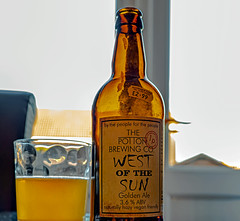 Glass of  West of the Sun ( Golden Ale) (High Res Mode - Heavy Crop)  Potton Brewery (Panasonic S1 & Lumix S 24-105mm f4 Zoom) (markdbaynham) Tags: beer birra ale bottle goldenale cerveza craftbeer glass 24105mm 24105mmf4 lumix lumixer panasonic panasoniclumix s1 lumixs1 dmc panasonics1 mirrorless fullframe ff fullframemirrorless mirrorlessfullframe panasonicfullframe panasonicff digitalfullframe 24mp evil csc pottonbrewery drink