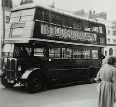 London transport STL1854  Chiswick high road August 1954. (Ledlon89) Tags: stl stlbus aecregent aec regent lptb lt lte londontransport londonbus londonbuses bus buses london vintagebuses oldlondon 1954
