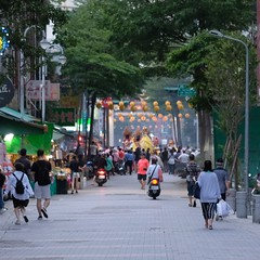 Temple procession (maybe for Matsu's birthday?) (theq629) Tags: taiwan taipei wanhua temple procession