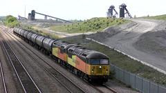 56087 & 56105 6E32 Hatfield & Stainforth 16/05/19 (Mr Corbett's stuff) Tags: 56087 56105 6e32 hatfield stainforth bitumen preston lindsey tanks colas class 56
