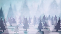 (CatMacBride) Tags: paper papercraft trees forest