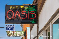 Rae Lynn's Oasis in Sprague, Washington (Lee Rentz) Tags: highway10 hoodooville johnwsprague lincolncounty northpacifichighway pacificnorthwest raelynnsoasis sprague sunsethighway washington washingtonstate america atmosphere authentic bar cafe charming city cool diner easternwashington ghosttown hamlet historic horizontal ice local locals lonely neon northamerica northwest nostagia nostagic palmtree pooltable quiet remote restaurant settlement sign sleepy smalltown street tavern town usa village vintage