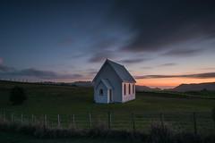 Solitude (Antony Eley) Tags: dusk sunset glow colour hues lonely solitude church rural auckland new zealand nikon landscape