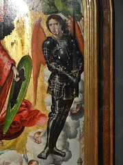 ca. 1521 - 'warrior angel, Appearance of St. Michael to Zechariah' (Master of St. Michael), Brussels, Hester Diamond Collection, New York, USA (roelipilami (Roel Renmans)) Tags: 1521 warrior angel st saint michael zechariah zacharias zacharie ange master meester maitre michel michiel bernard van orley barend hester diamond new york bozar bruxelles brussel brussels armor armour armure harnas rüstung wings engel renaissance gothic sword tassets appearance san mail bruselas museum flemish painting brabant belgium altar bear paw sabaton armadura knight