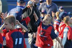 Scuffling over a ball (Minda Haas Kuhlmann) Tags: sports baseball milb minorleaguebaseball pacificcoastleague omahastormchasers nebraska omaha papillion sarpycounty outdoors fans onfieldpromotions