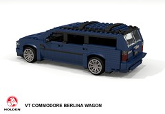 Holden VT Commodore Berlina Wagon (lego911) Tags: holden gmh gm general motors holdens vt commodore 1997 1990s berlina wagon estate staionwagon v6 auto car moc model miniland lego lego911 ldd render cad povray aussie australia australian afol v8