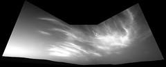 Cloudy Mars 1 (sjrankin) Tags: 21may2019 edited nasa grayscale sky hills mars msl curiosity galecrater haze clouds navcam