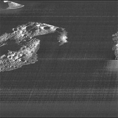 The Moon's South Pole (sjrankin) Tags: 21may2019 edited nasa grayscale moon crater southpole shackletoncrater lro lunarreconnaissanceorbiter shackleton