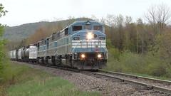 Job 1 Bringham, QC (MaineTrainChaser) Tags: trains train westbound west quebec cmq job1