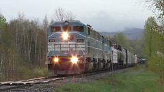 Job 1 Route 243 Foster, QC (MaineTrainChaser) Tags: trains train westbound west quebec cmq job1