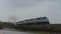 Job 1 Sherbrooke, QC (MaineTrainChaser) Tags: trains train westbound west quebec cmq job1