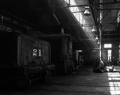 02469376422481-112-19-05-Iron Horse-6-Black and White (Don't Mess With Jim) Tags: america ely nevada nevadanorthernrailwaymuseum southwest usa whitepinecounty history locomotive museum rail steam monochrome train blackandwhite