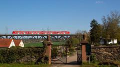 425 034 (Daniel Apfel) Tags: 425 425034 034 rb regionalbahn regio regionalzug assenheim viadukt wetterau quietschie hessen deutschland deutschebahn db dbregio friedhof tor