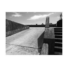 going up (chrisinplymouth) Tags: monochrome ramp concrete carpark black white cw69x plymouth devon england uk diagx city xg diagonal