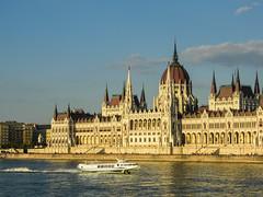Budapest, Hungary (Márton Botond) Tags: budapest hungary europa city cityscape citymoment cityarchitecture citycenter boat ship duna parlament panasoniclumixdmclz20 sunset sunsetcolors
