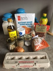 Ingredients for How to Make Butternut Squash and Roasted Pecan Ravioli (Backyard Boss) Tags: butternut squash roasted pecan ravioli homemade recipe dough dish easy kitchen