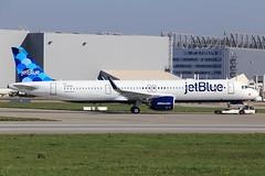 jetBlue  Airbus A321-271NX D-AVXK (N2002J) (widebodies) Tags: hamburg finkenwerder xfw edhi widebody widebodies plane aircraft flughafen airport flugzeug flugzeugbilder jetblue airbus a321271nx davxk n2002j