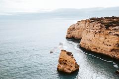Algarve (FOXTROT ROMEO) Tags: algarve portugal travel ocean cliff beach sky clouds seagull möwe birg bird fly