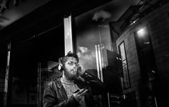 Multitasking (DavidS_UK) Tags: streetphotography street streetphoto streetlife streetphotographer citylife edit blackanwhite bw mono streetperfection streetshot bestofstreet bnwlife fuji fujifilm fujix x100f