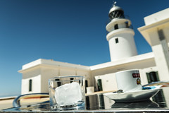 20190510-IMG_8926 (PChamaeleoMH) Tags: cafe cafeconhielo capdecavalleria coffee fardecavalleria glass ice lighthouse menorca reflections
