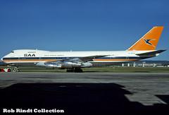 South African Airways B747-244B ZS-SAM (planepixbyrob) Tags: saa southafrica southafricanairways boeing 747 747200 jumbojet zssam per perth australia retro kodachrome sprinkbok