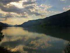 Clouds Reflected (abrideu) Tags: abrideu panasonicdmctz20 clouds reflections fjord mountains water landscape sky norway ngc