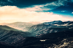 View from Hoverla (ghostisme87) Tags: hoverla mountains mountainridge light clouds sky forest blue