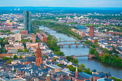 River Main (nmkavvada) Tags: frankfurt germany sun sunset skyscaper blue bluecolor urban urbancity urbanphotography river rivermain main