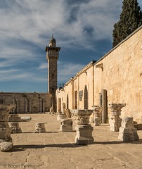 MUSEUM OF ISLAMIC ART, HARAM ASH SHARIF, JERUSALEM_DSC_4097_LR_2.5 (Roger Perriss) Tags: 56may israel templemount d750 columns sculture capitols paving stone temple mountharam ash sharif mount haram haramashsharif jesus oldcity city walls pavingstones minnaret